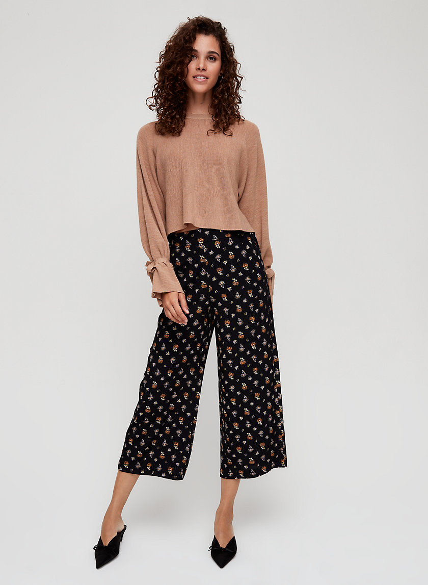 FAUN PANT - Floral, wide-leg pant