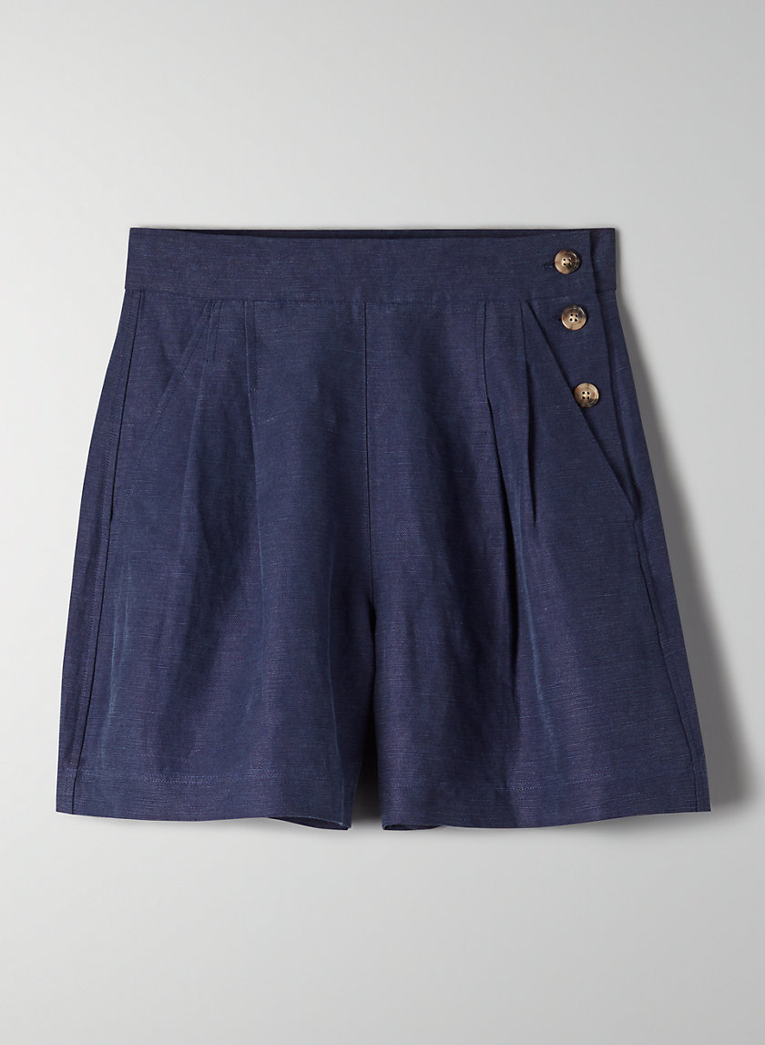 FLORENCE SHORT - High-waisted pleated shorts