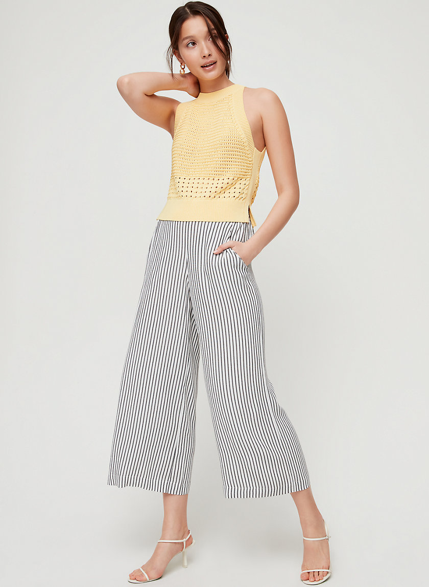 FAUN PANT - Striped, wide-leg pant