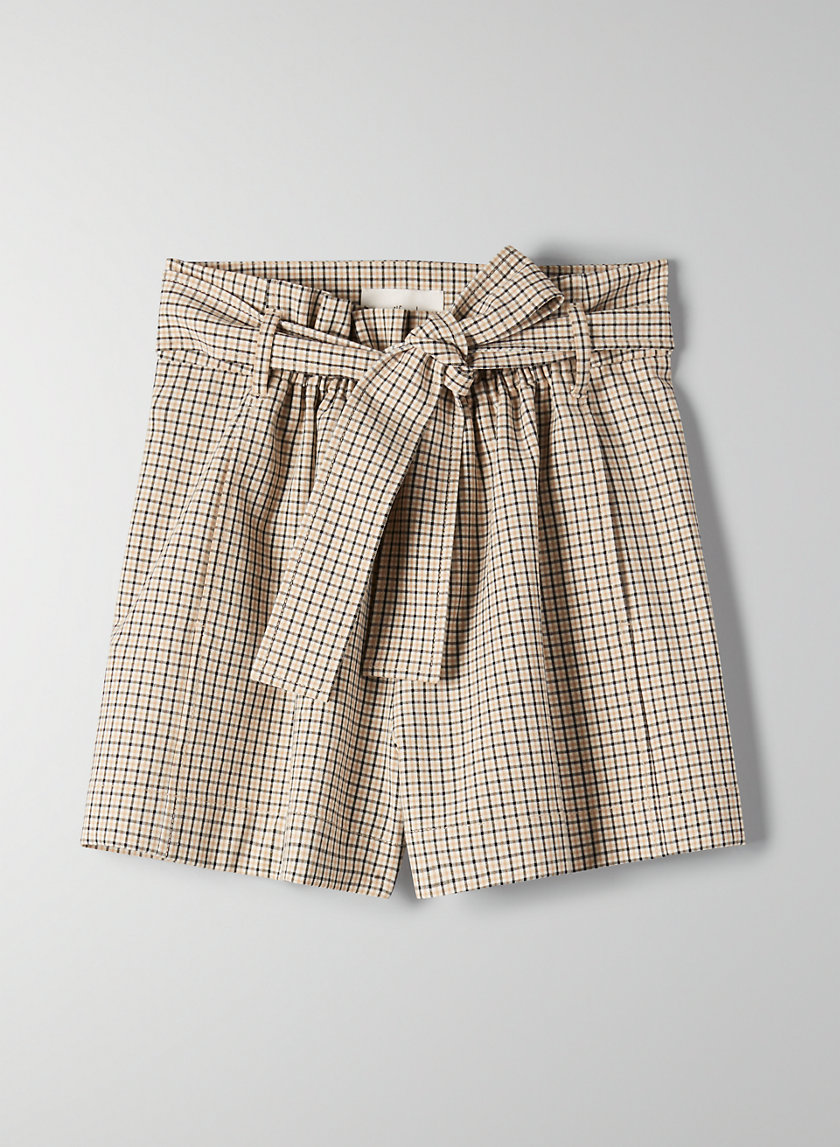 GÉLAS SHORT - High-waisted paperbag shorts