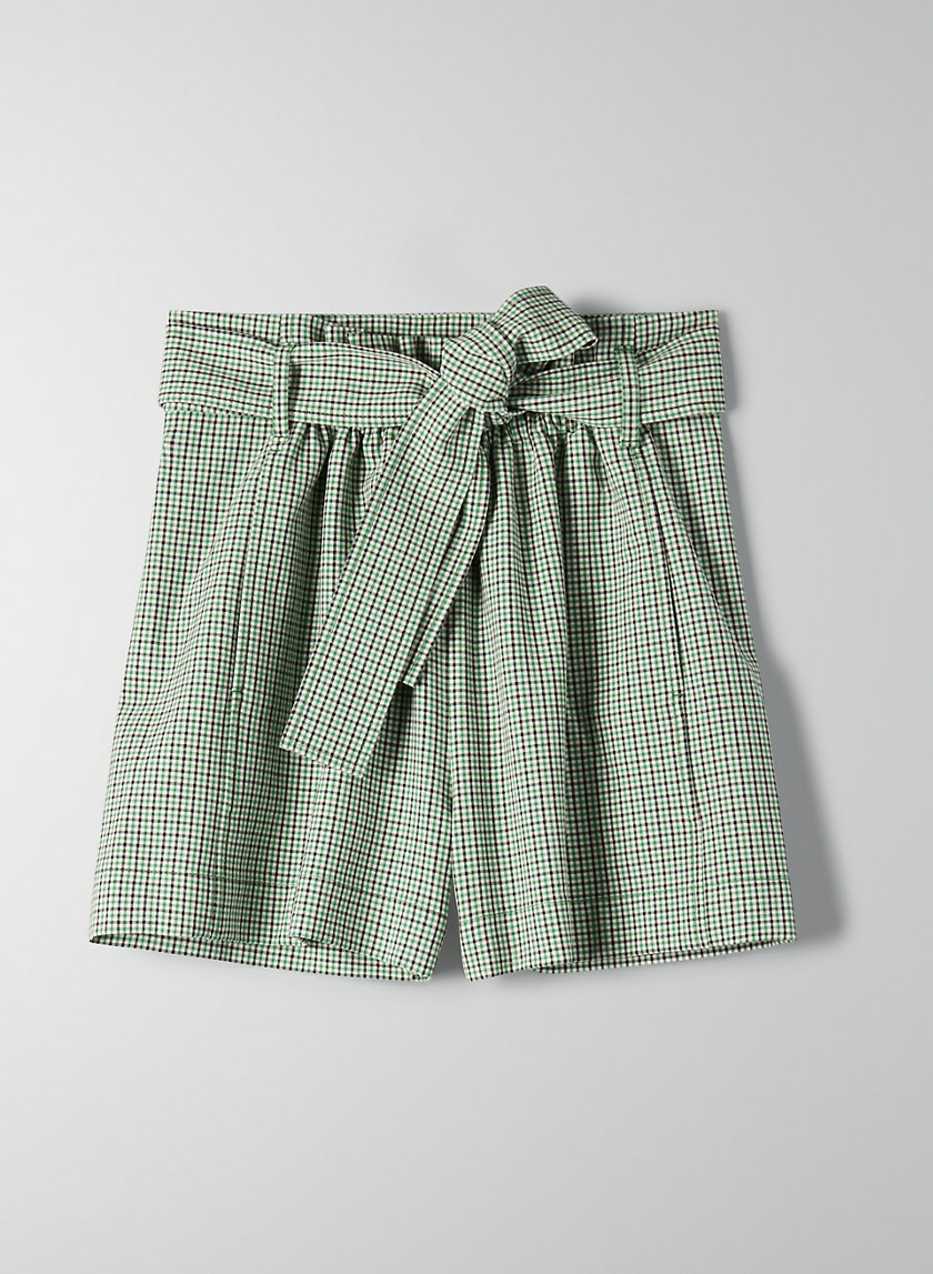 GÉLAS SHORT - High-waisted paperbag shorts