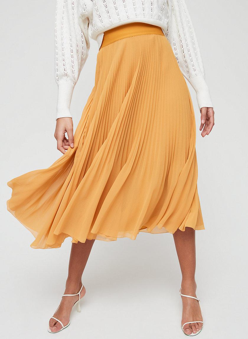 TWIRL SKIRT - Pleated, chiffon midi skirt