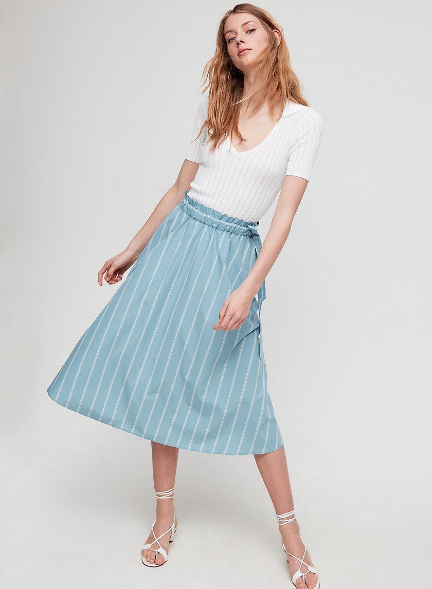 CHAMBLY SKIRT - Striped, A-line midi skirt
