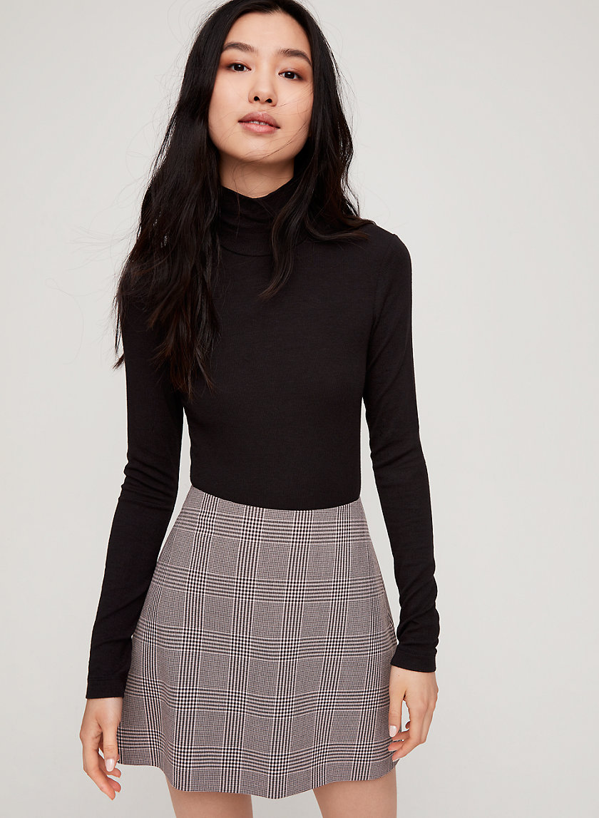 RENÉE SKIRT - Plaid A-line mini skirt