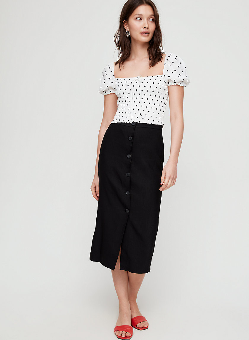 CHARRIÈRE SKIRT - Button-front pencil skirt