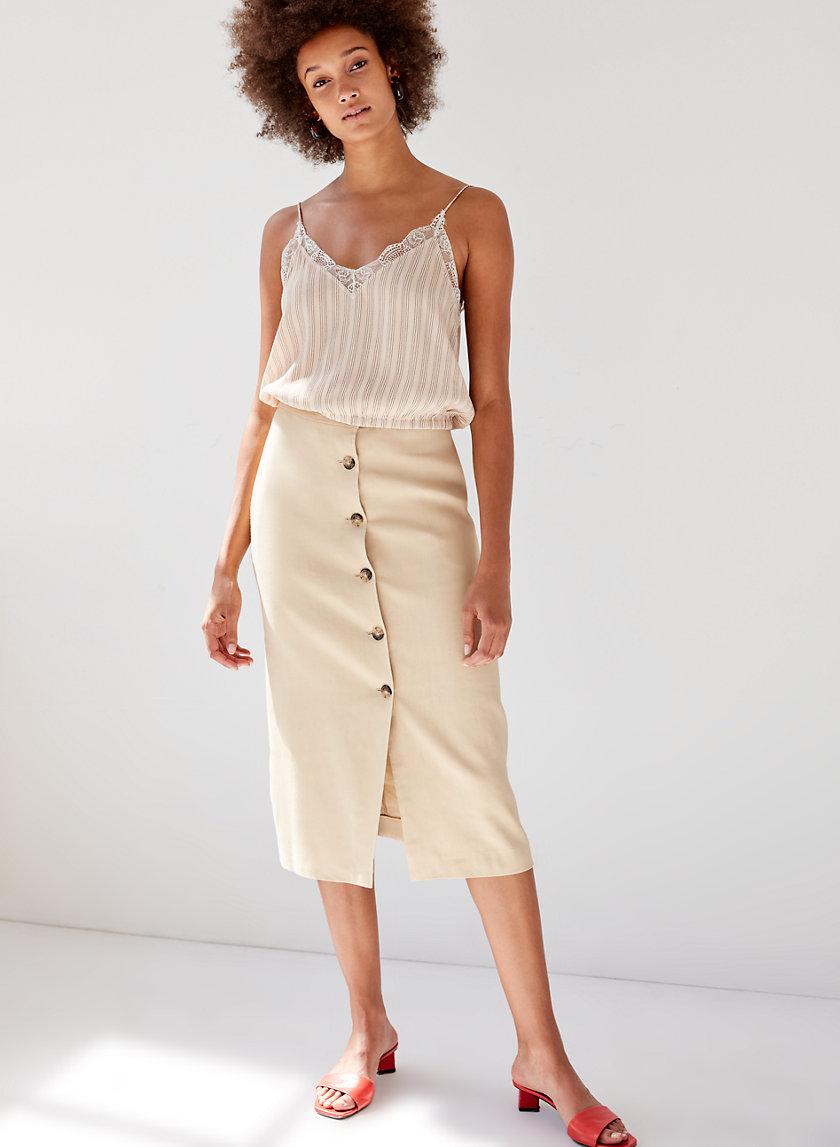 CHARRIÈRE SKIRT - Button-front pencil skirt