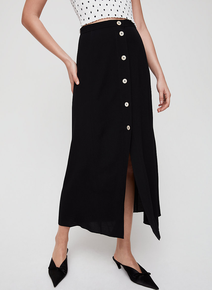 AMELIE SKIRT - Button-front midi skirt