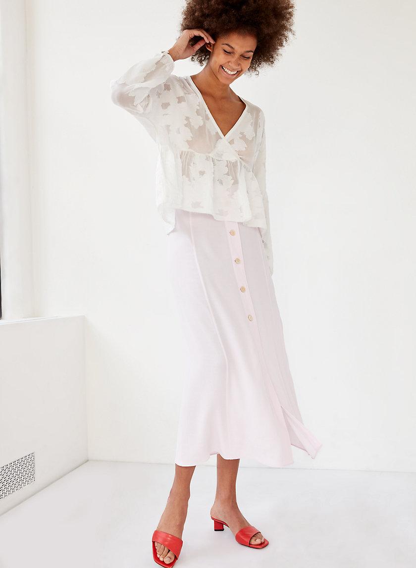 AMELIE SKIRT - Button-front midi skirt