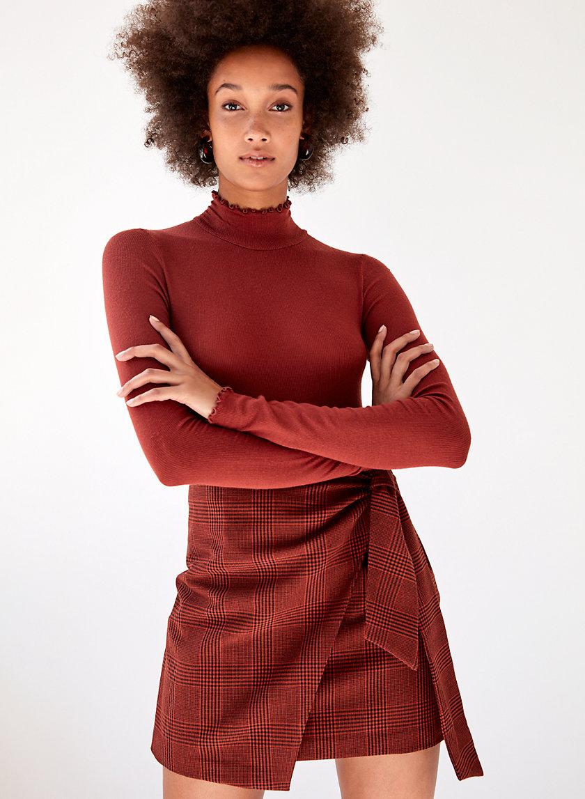 DORINE SKIRT - Faux-wrap mini skirt