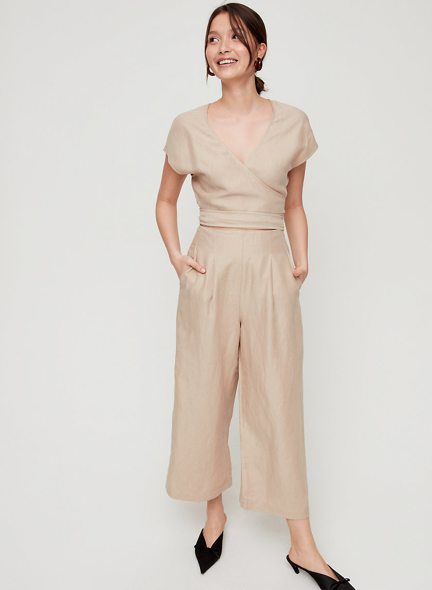 BRAX JUMPSUIT - Short-sleeve, wide-leg jumpsuit