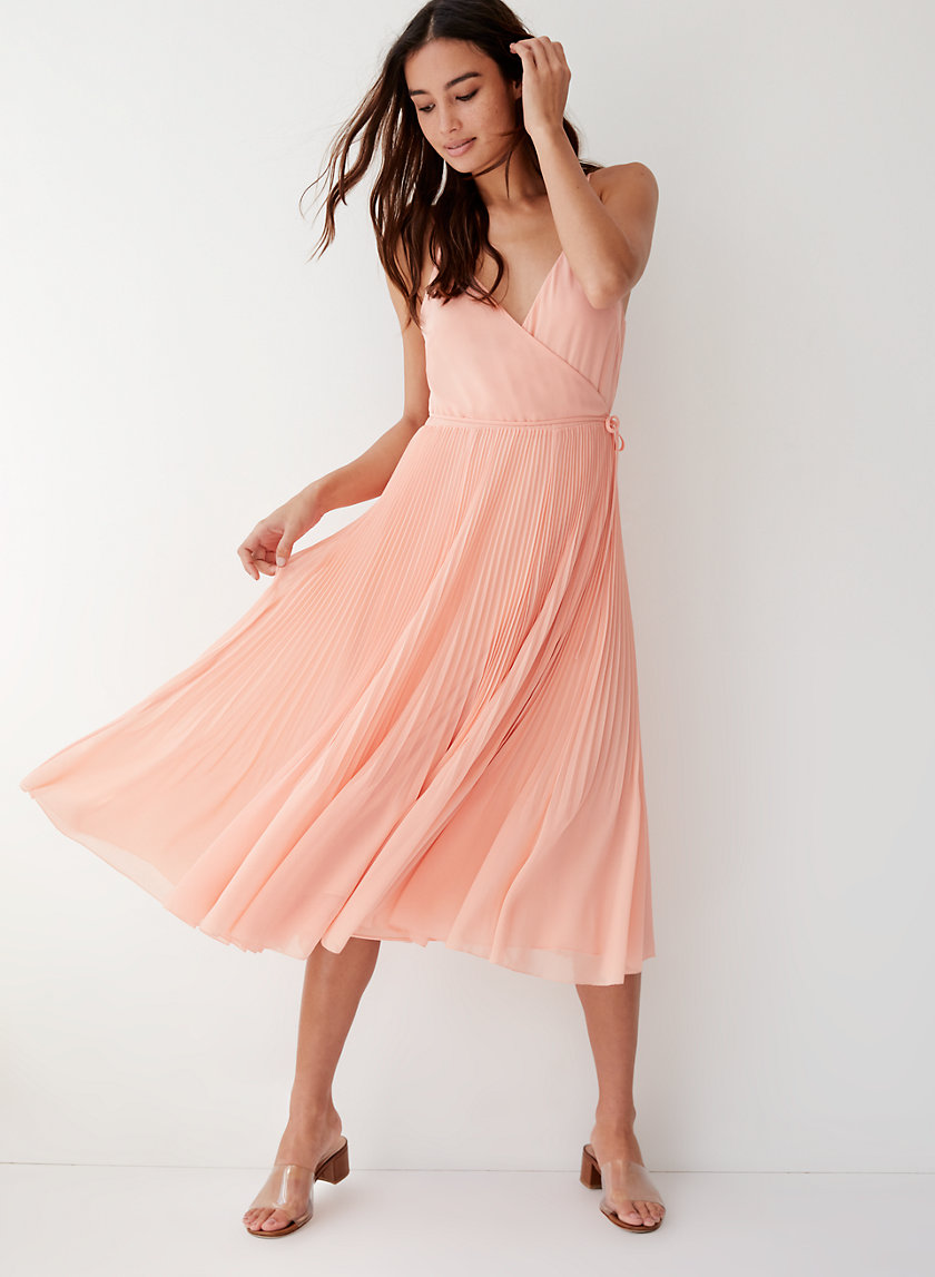 BEAUNE DRESS - Pleated wrap midi dress