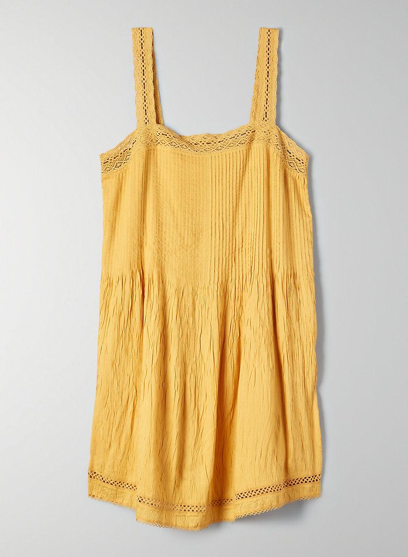 LÉONE DRESS - Sleeveless pintuck dress