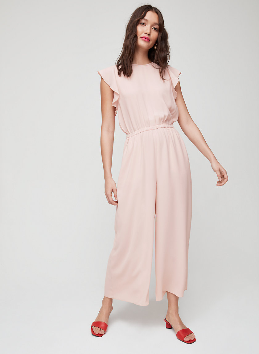FLEURETTE JUMPSUIT - Ruffled, wide-leg jumpsuit