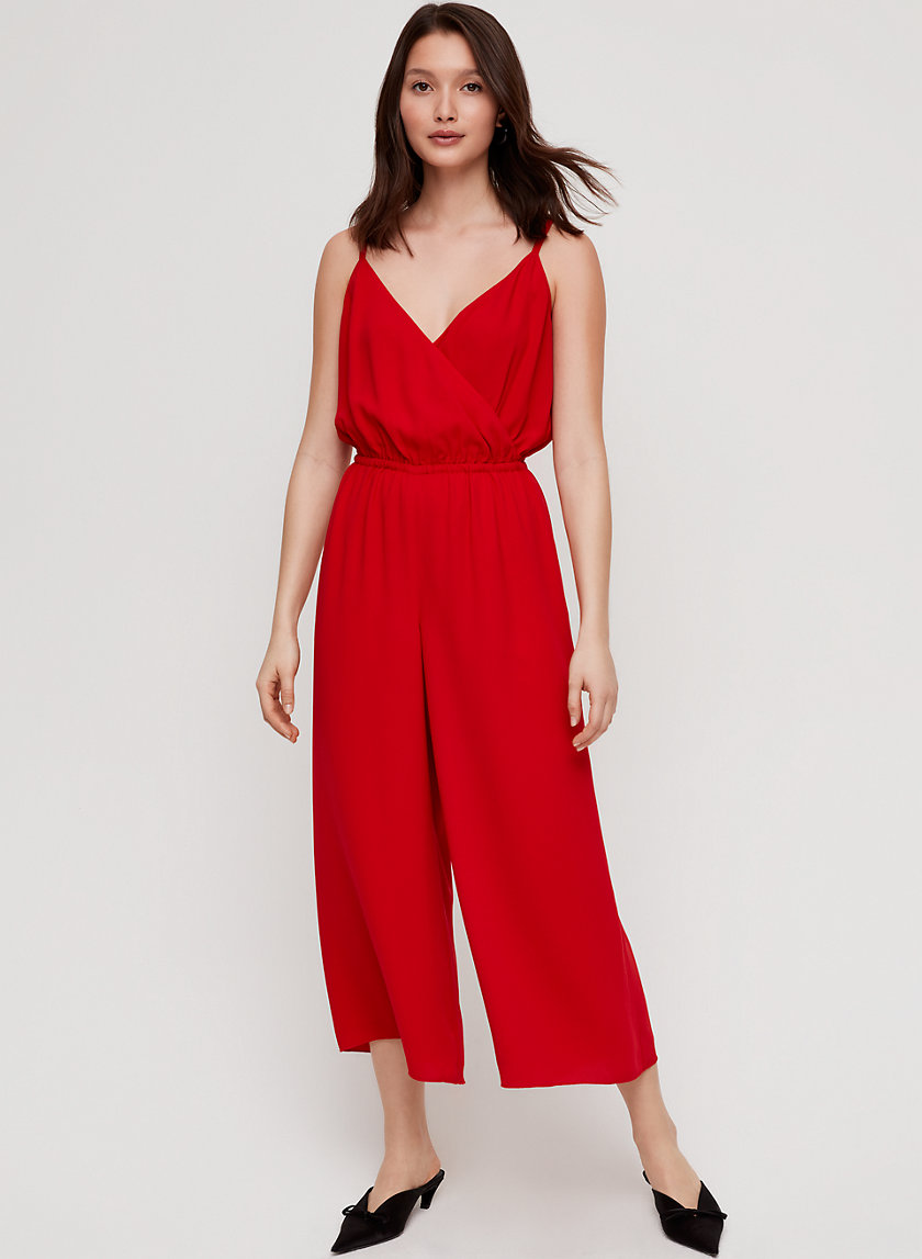 MELODIE JUMPSUIT - V-neck, wide-leg jumpsuit