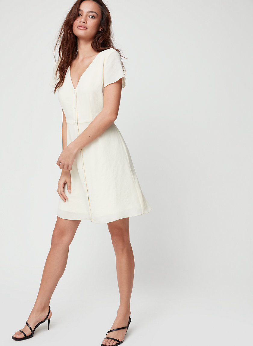 NAZAIRE DRESS - Buttoned, fit-and-flare mini dress