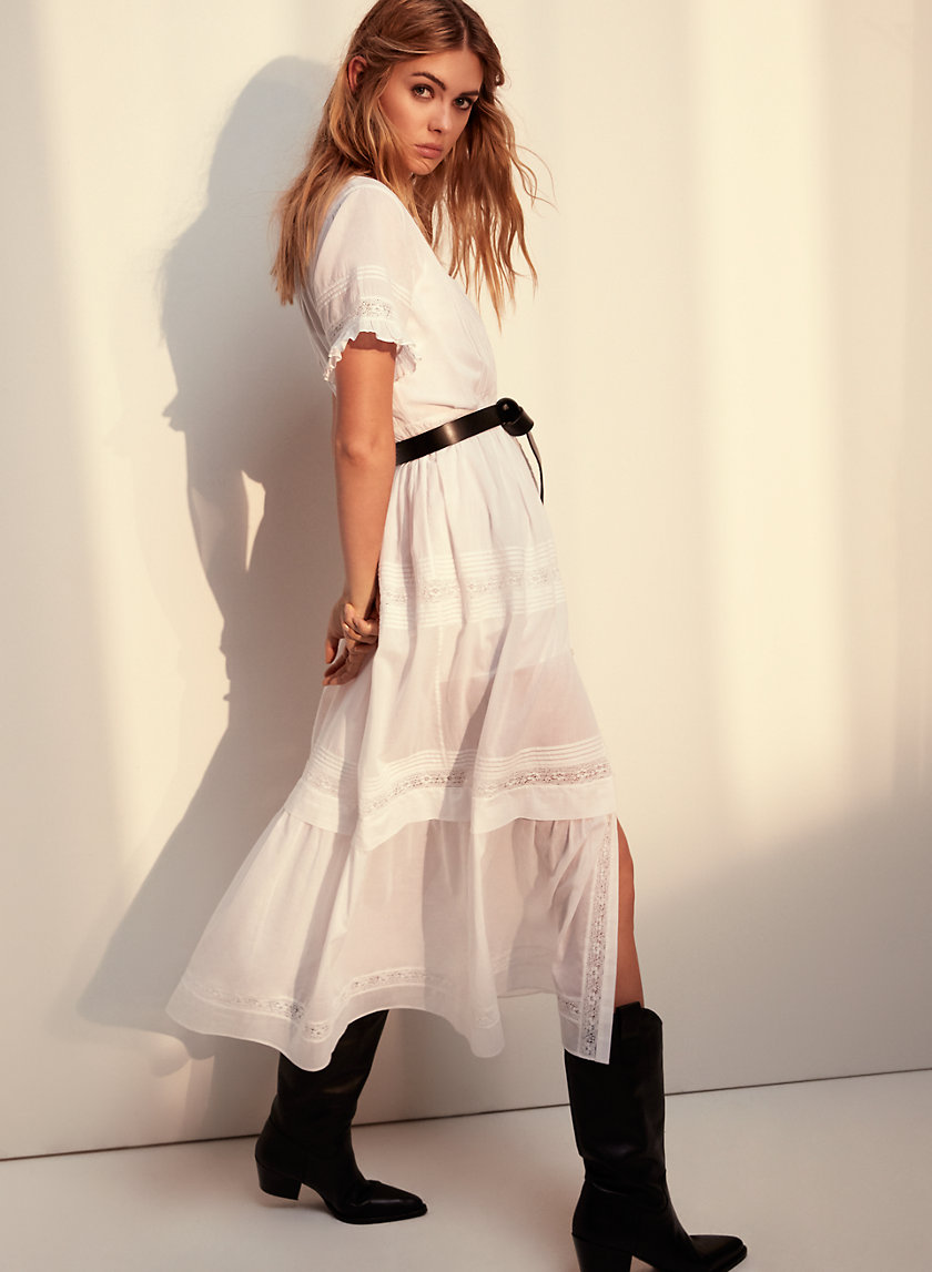 AUDE DRESS - Ruffled, boho maxi dress