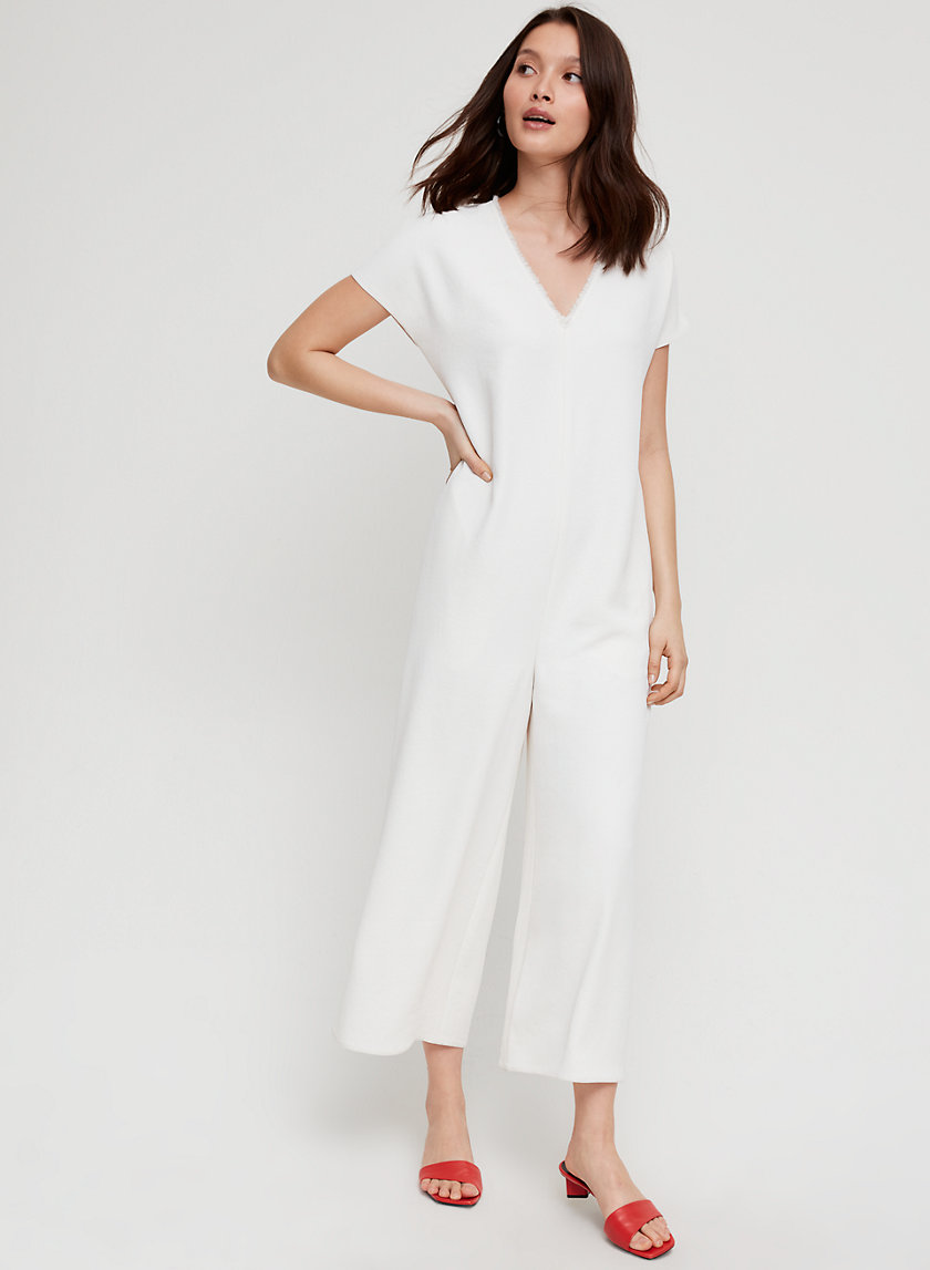 AISLA JUMPSUIT - Short-sleeve, wide-leg jumpsuit