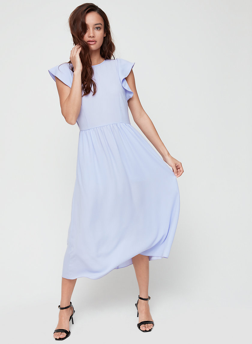 FLEURETTE DRESS - Flutter sleeve midi dress