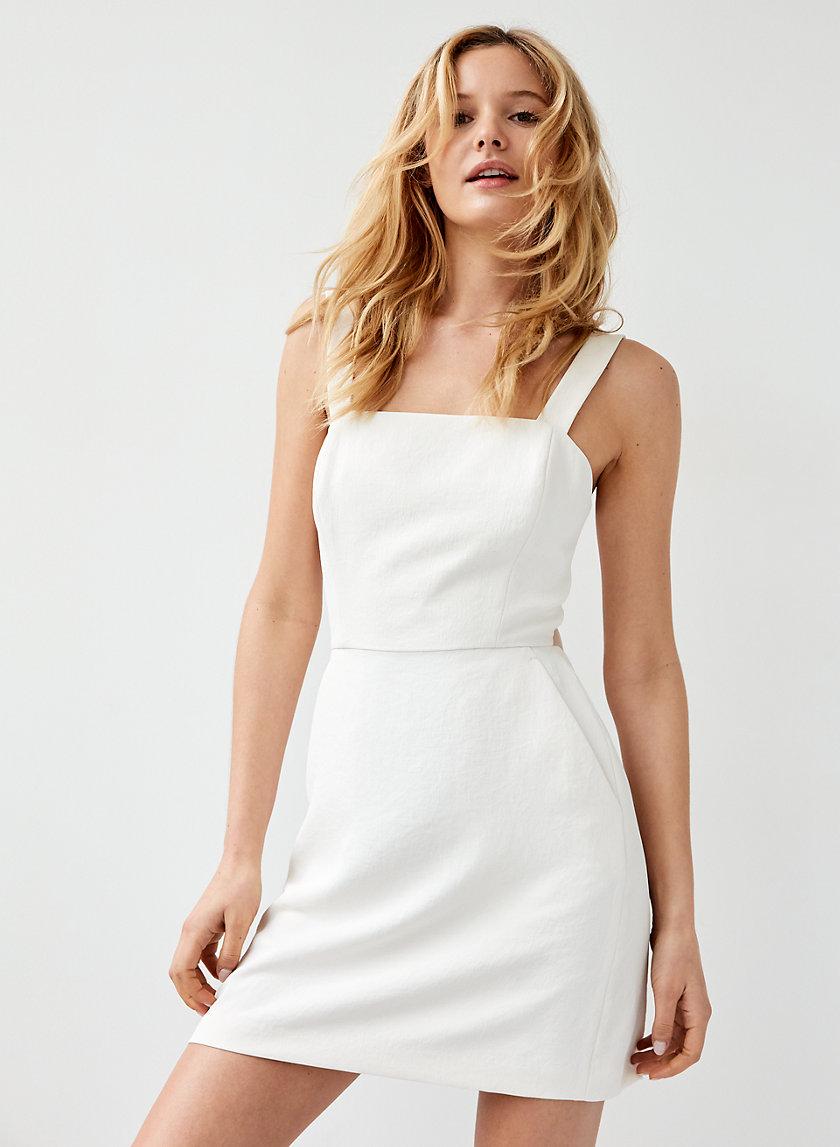 ÉCOULEMENT MINI DRESS - A-line, tie-back dress