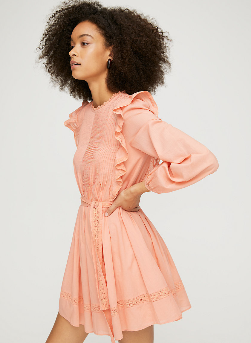 ELIA DRESS - Long-sleeve ruffled dress