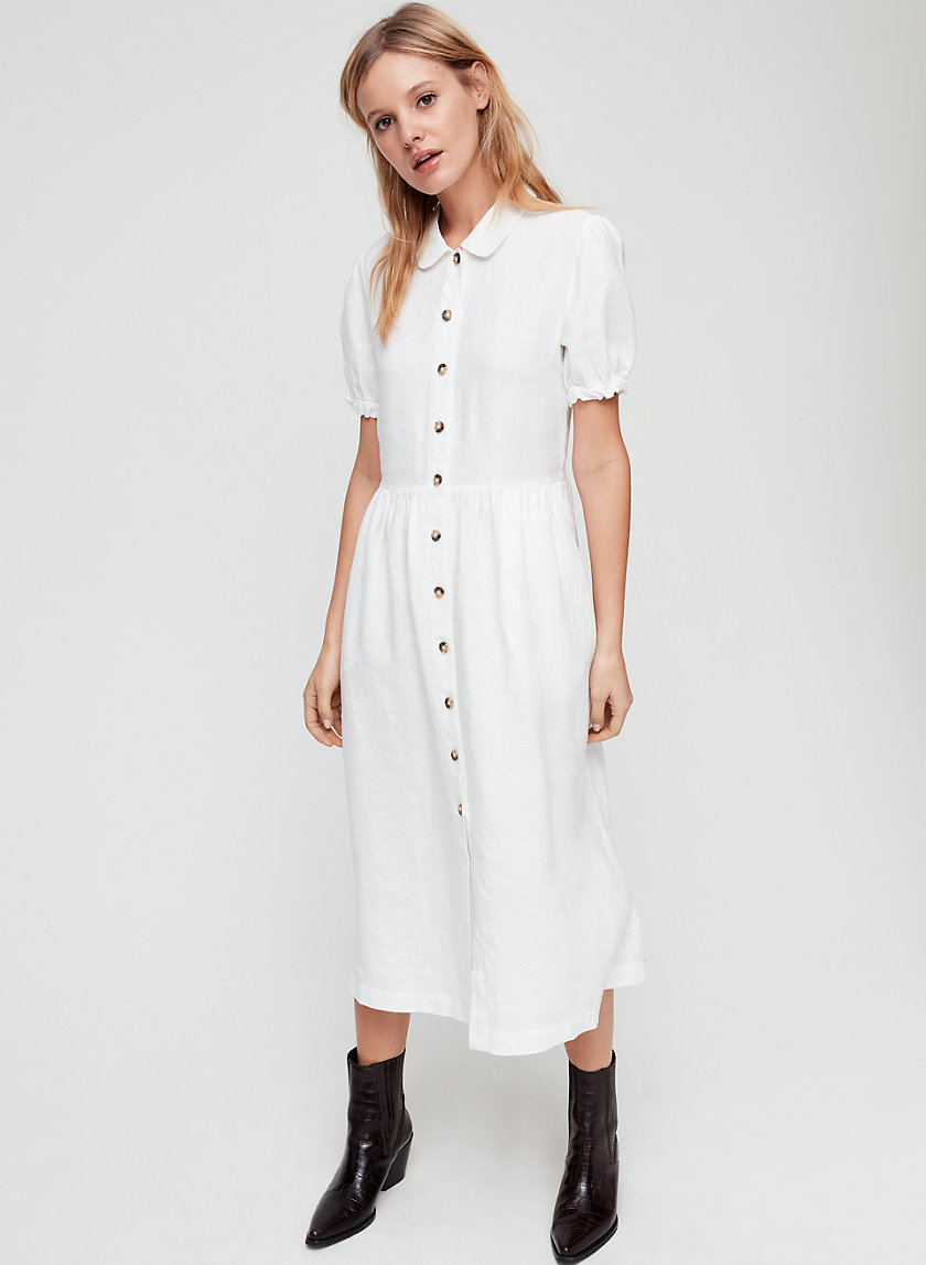 NAEVA DRESS - Button-front midi dress