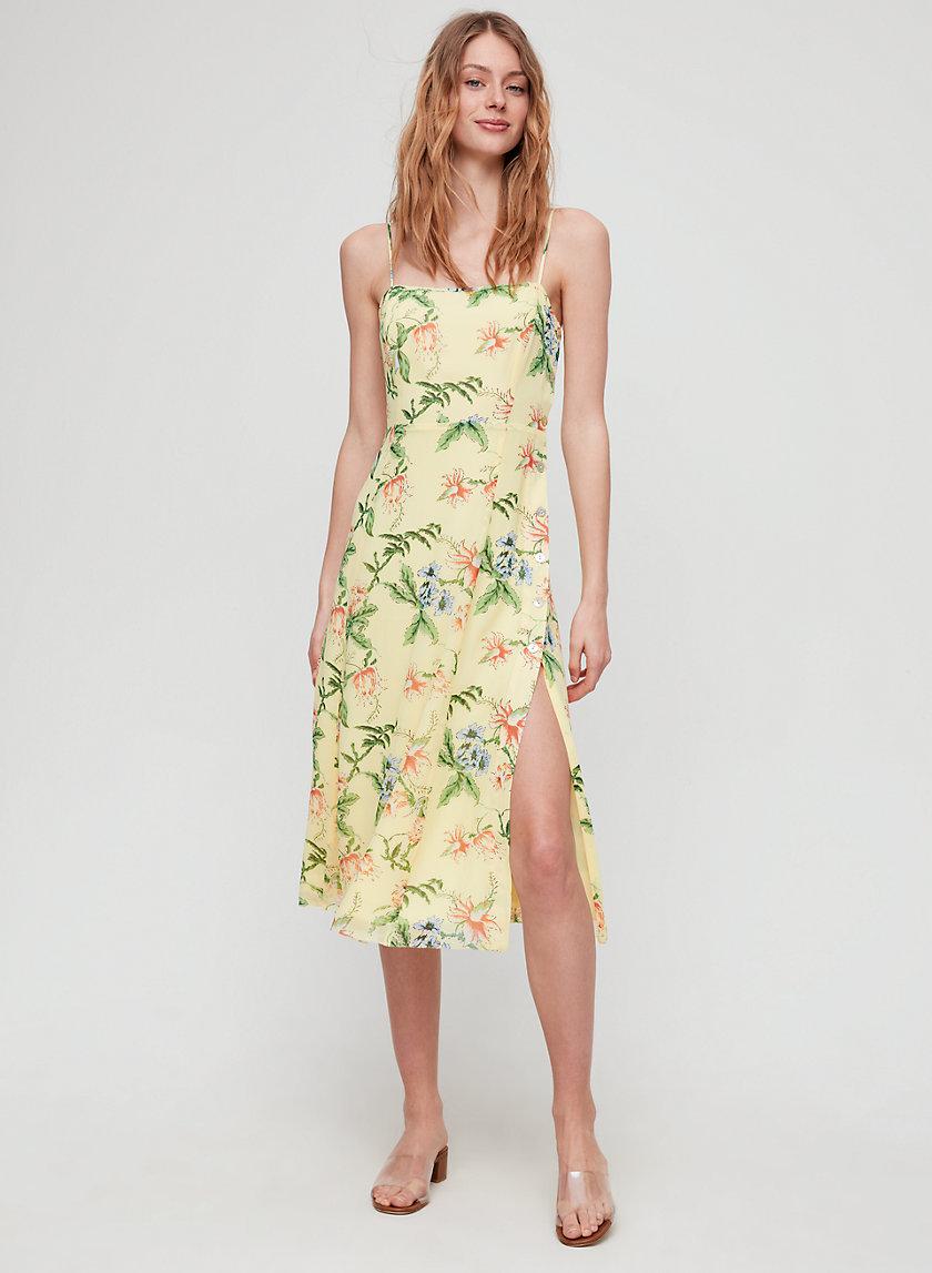 DESTINATION DRESS - Floral, slip midi dress