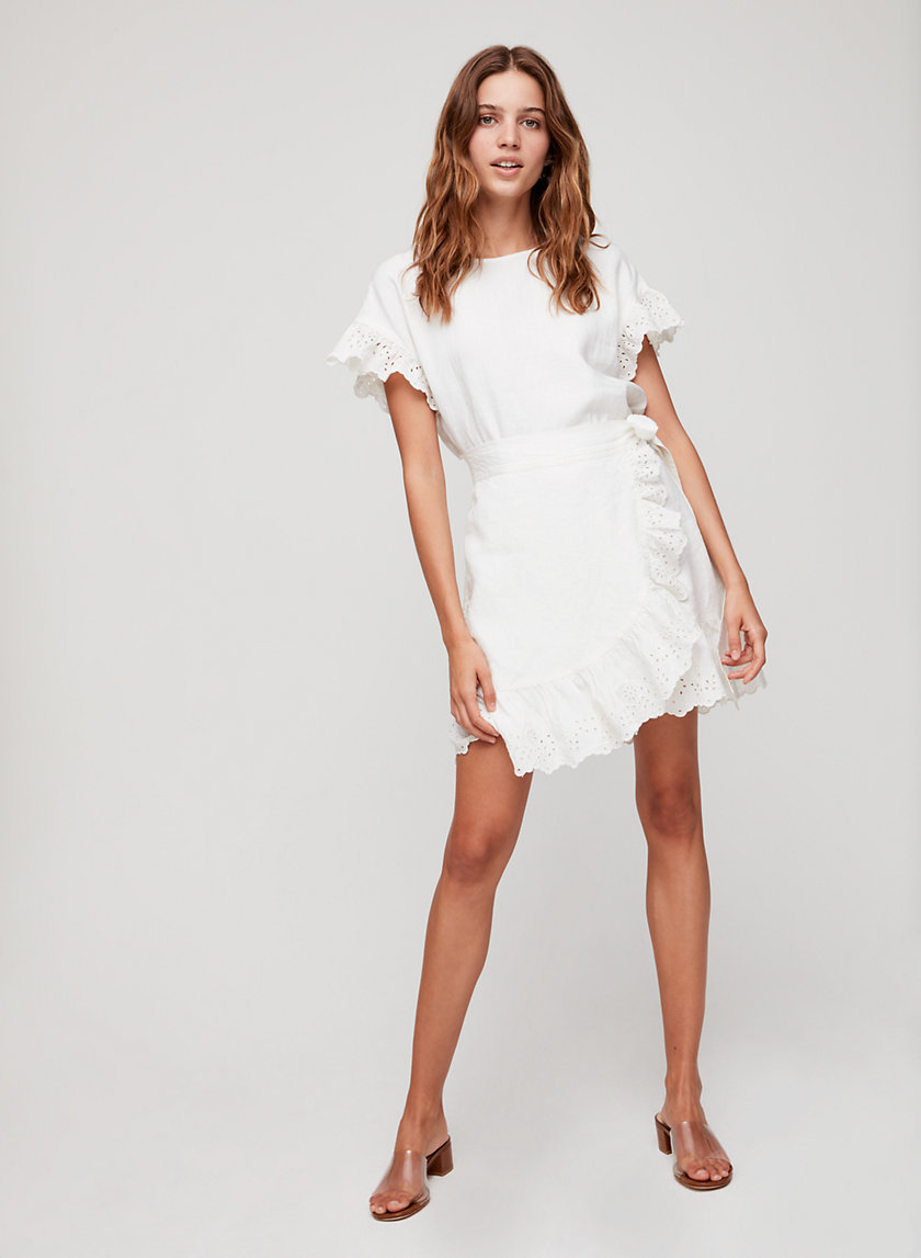 NINETTE DRESS - Ruffled wrap dress