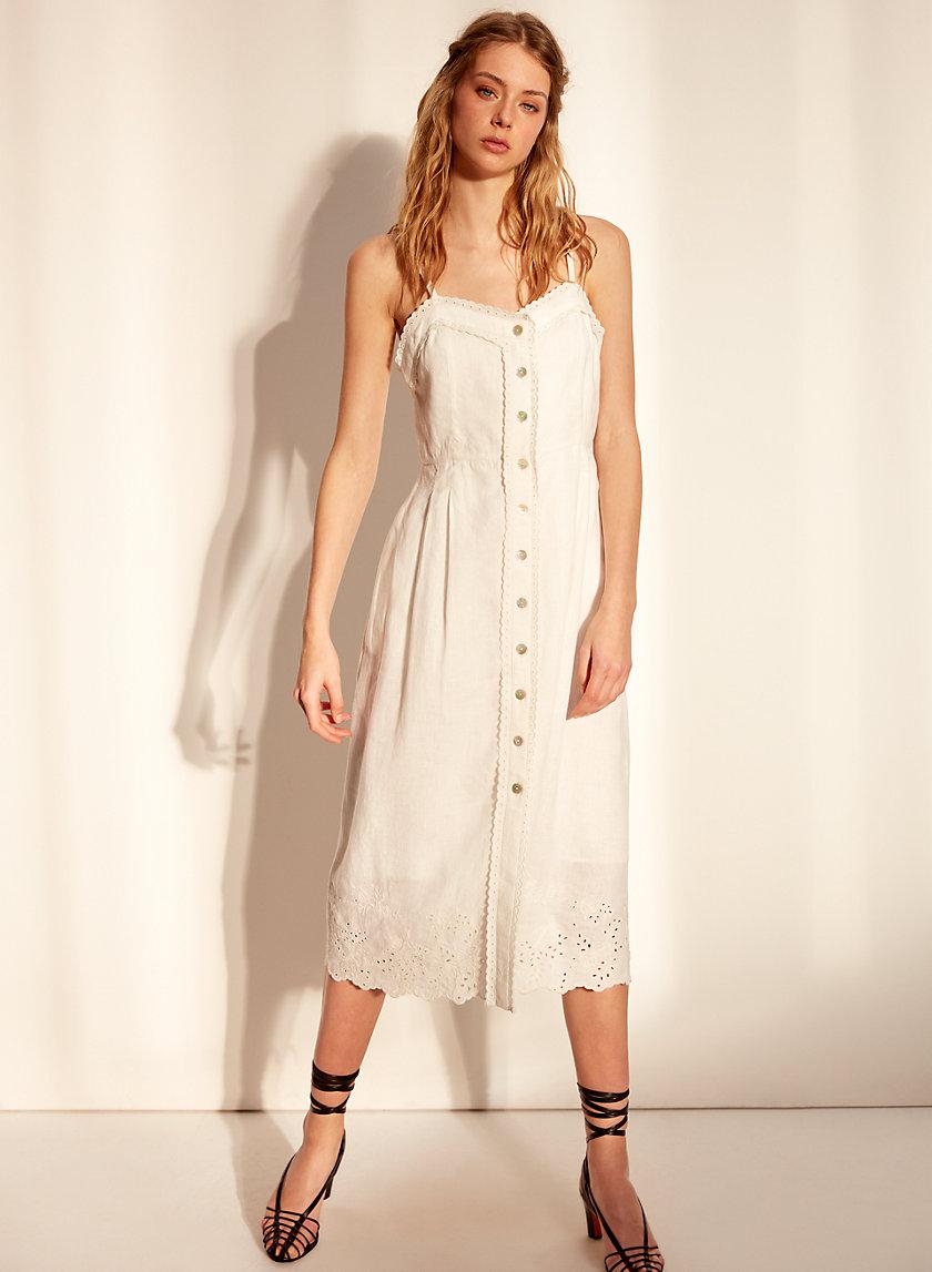 MEERA DRESS - Sweetheart neck midi dress