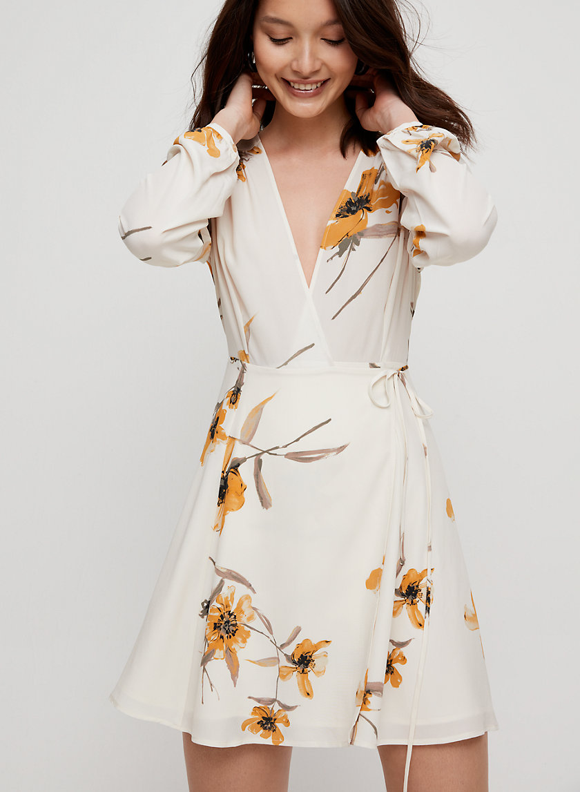 DIANE DRESS - Long-sleeve, floral wrap dress