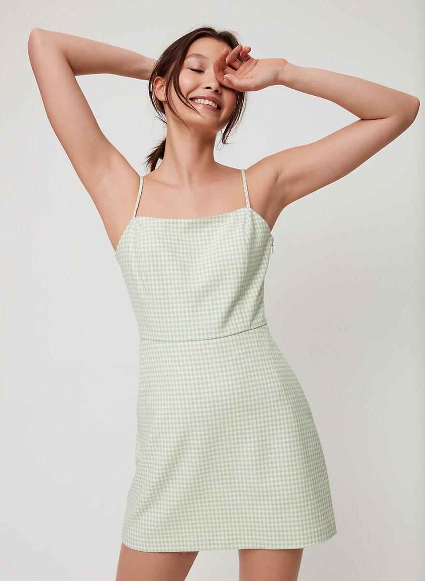 ISABELLE DRESS - Gingham Mini Dress
