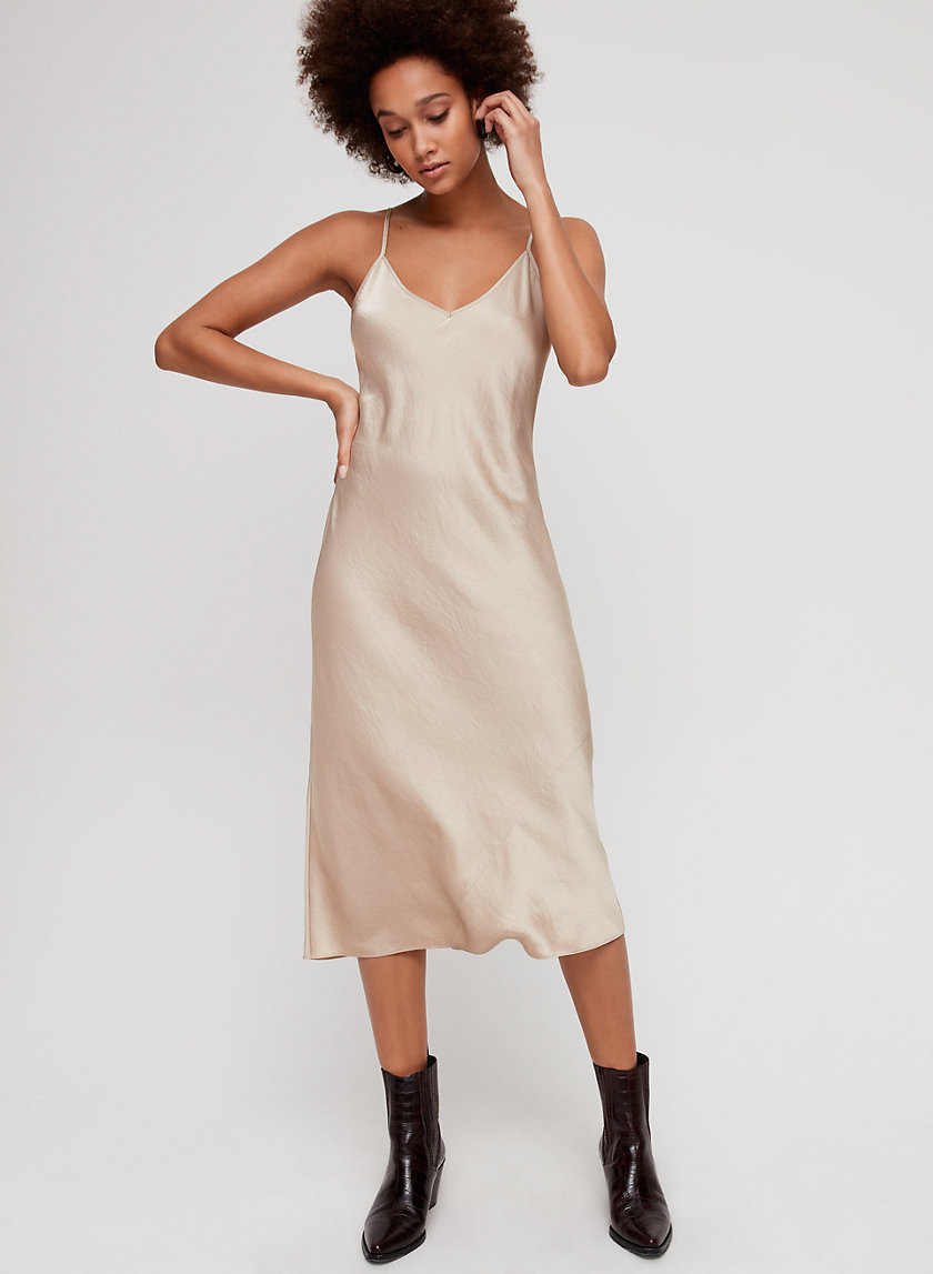 CHRISTINE DRESS - Slinky midi slip dress