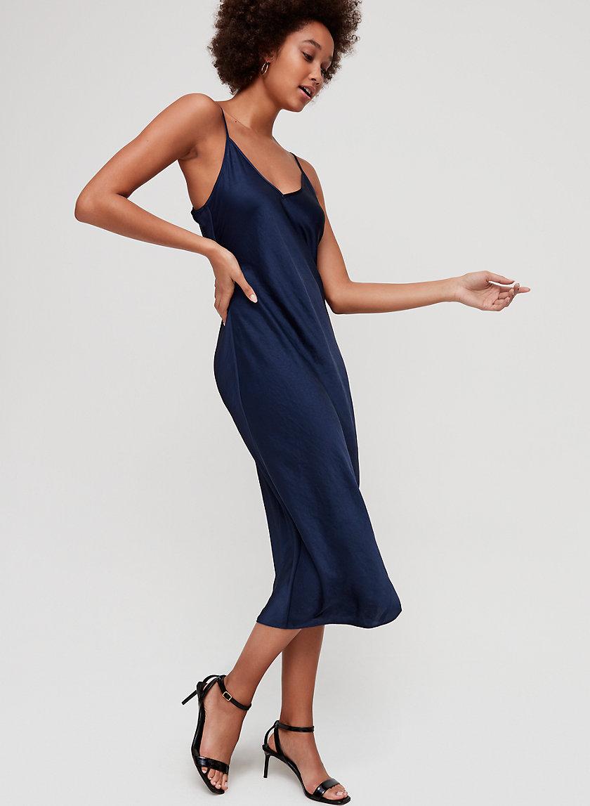 CHRISTINE DRESS - Slinky midi slip dress