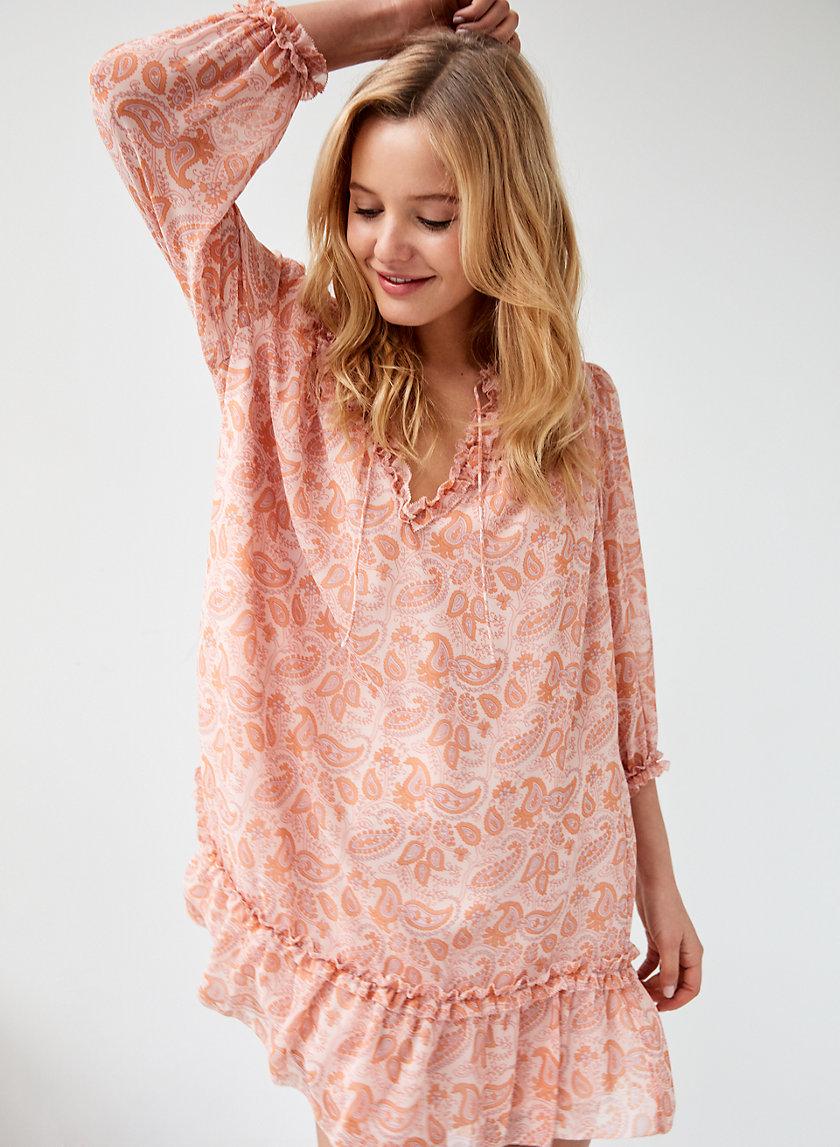 AMANDINE DRESS - Long-Sleeve Peasant Dress