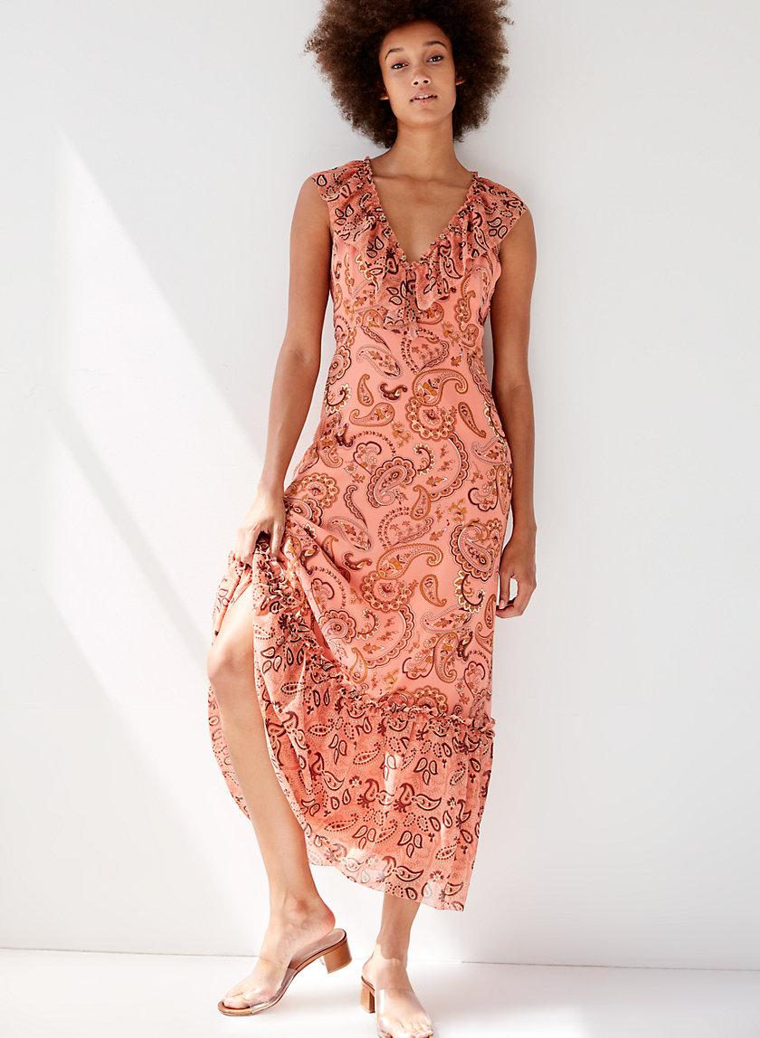 NAOMI DRESS - Paisley-print midi dress