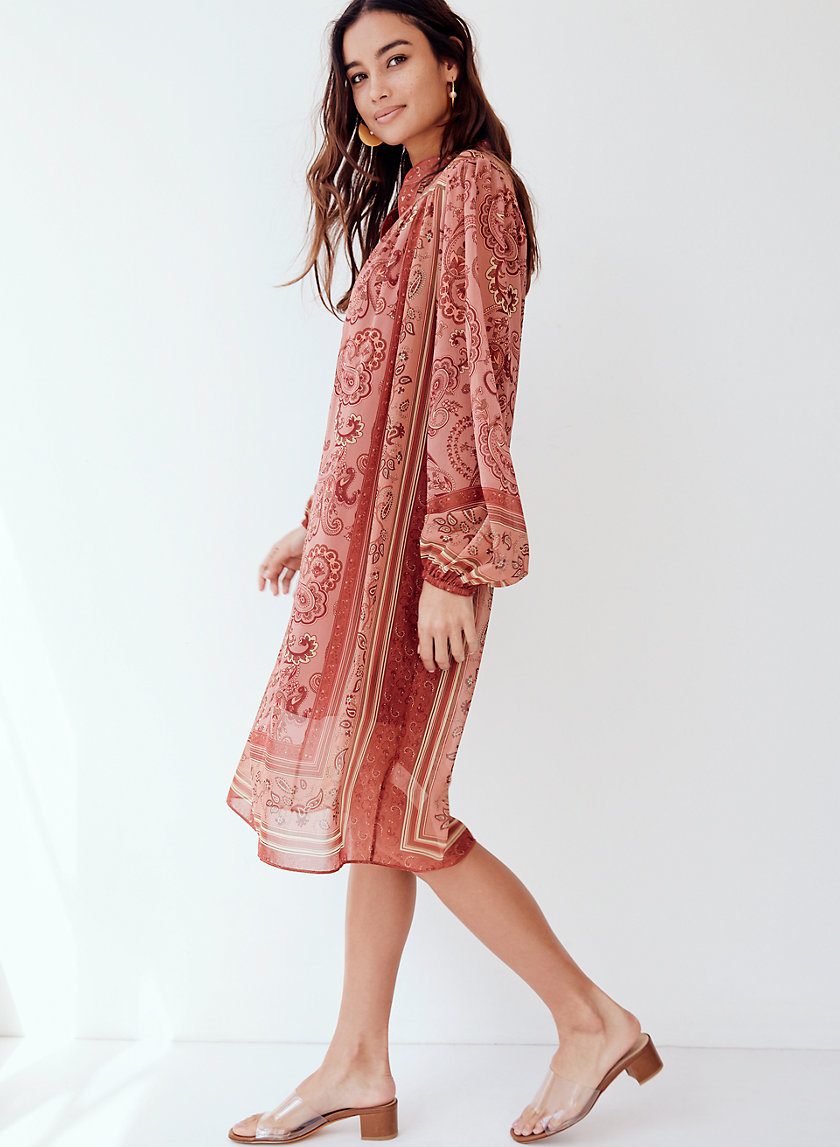 SOLENE DRESS - Paisley-print tunic dress