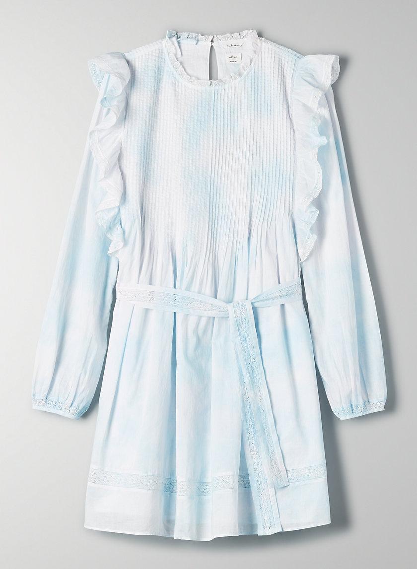 ELIA DRESS - Ruffled tie dye prairie mini dress