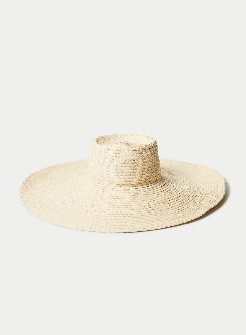 HAMPTONS STRAW HAT - Wide-brim straw hat