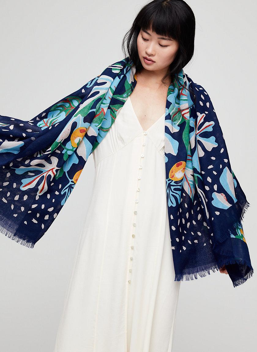 TROPICAL BLANKET SCARF - Lightweight blanket scarf