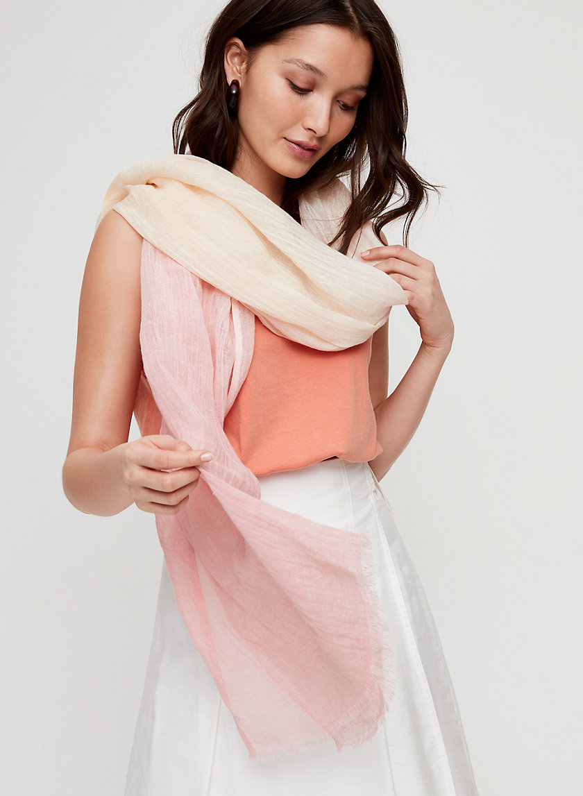 DIP DYE SCARF - Lightweight ombre rectangle scarf