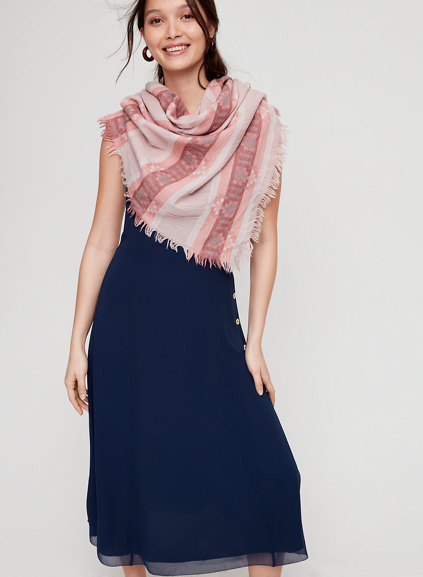 ZOYA WEAVE TRIANGLE - Lightweight wool triangle scarf