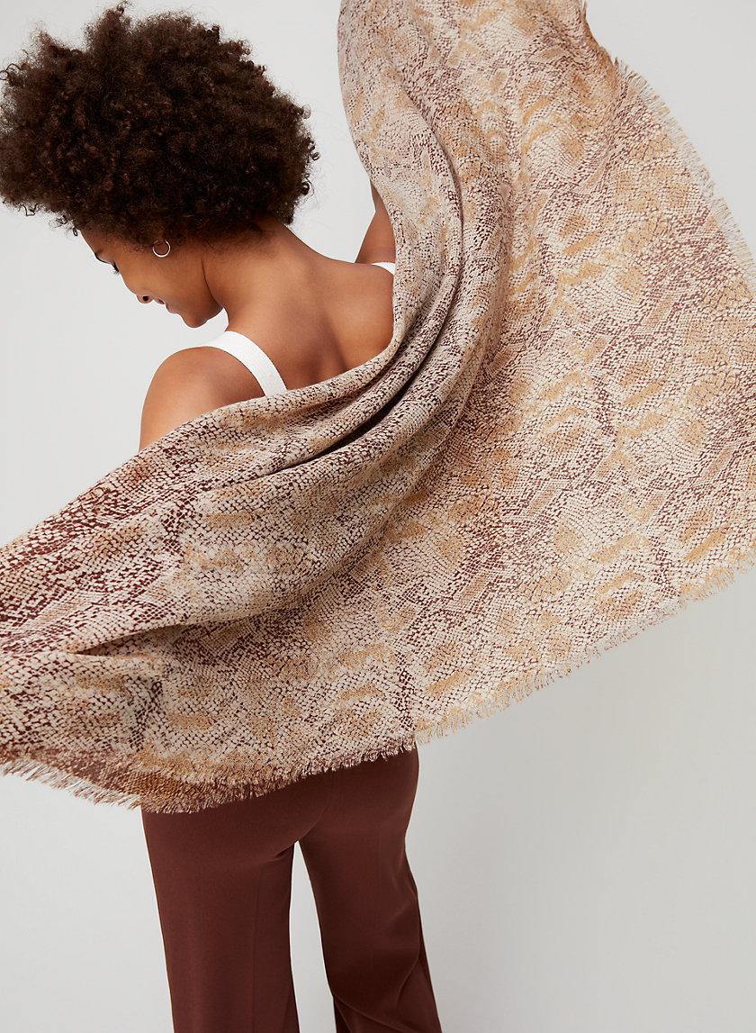 PYTHON BLANKET SCARF - Lightweight blanket scarf