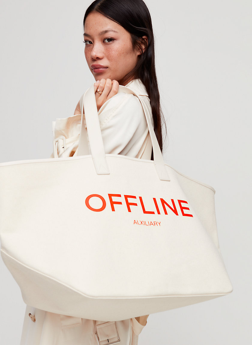 "SOUTH BEACH CARRYALL - ""Offline"" tote bag"