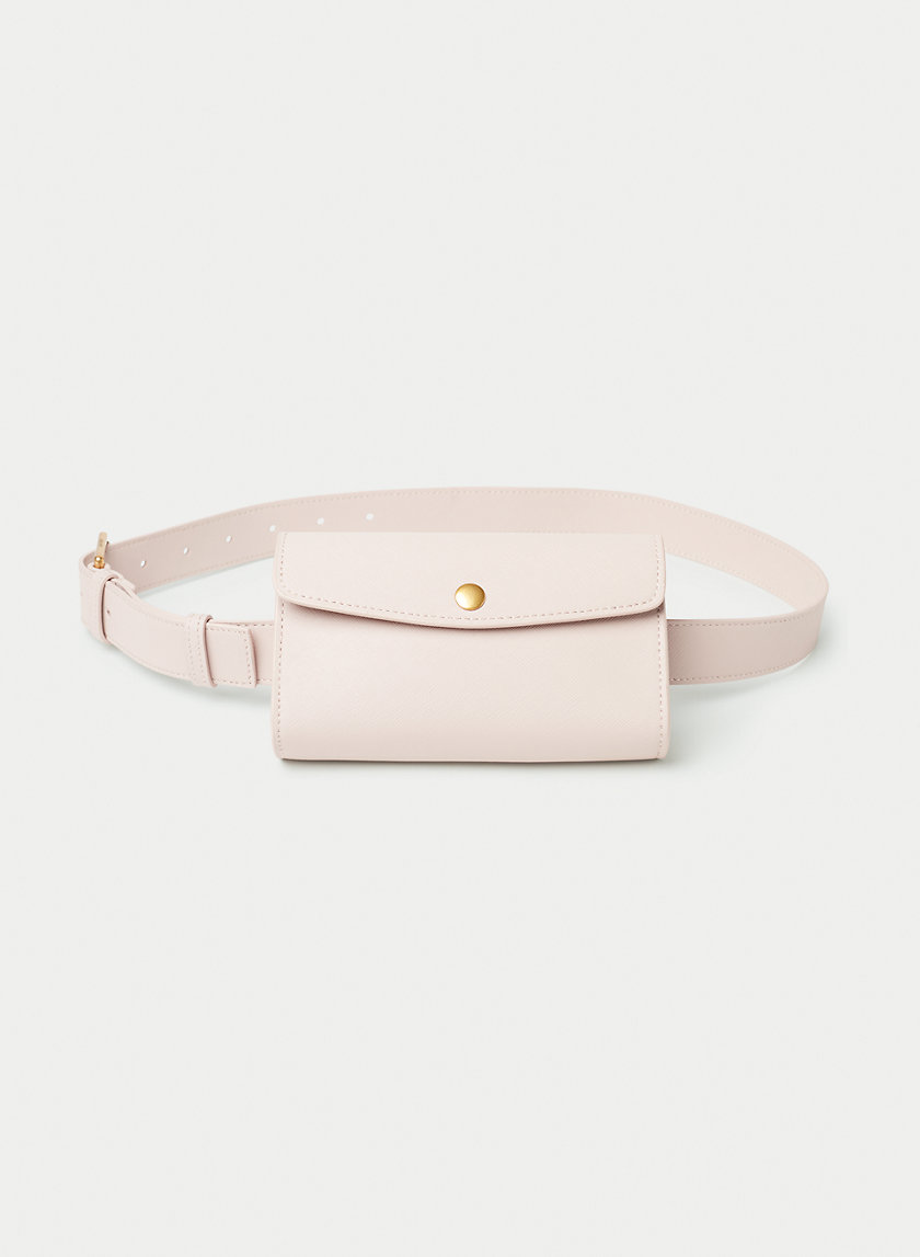 LEATHER SNAP BELT BAG - Leather belt bag