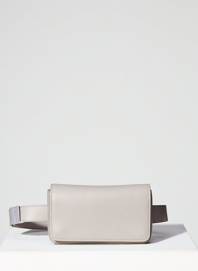 LEATHER FLAP BELT BAG