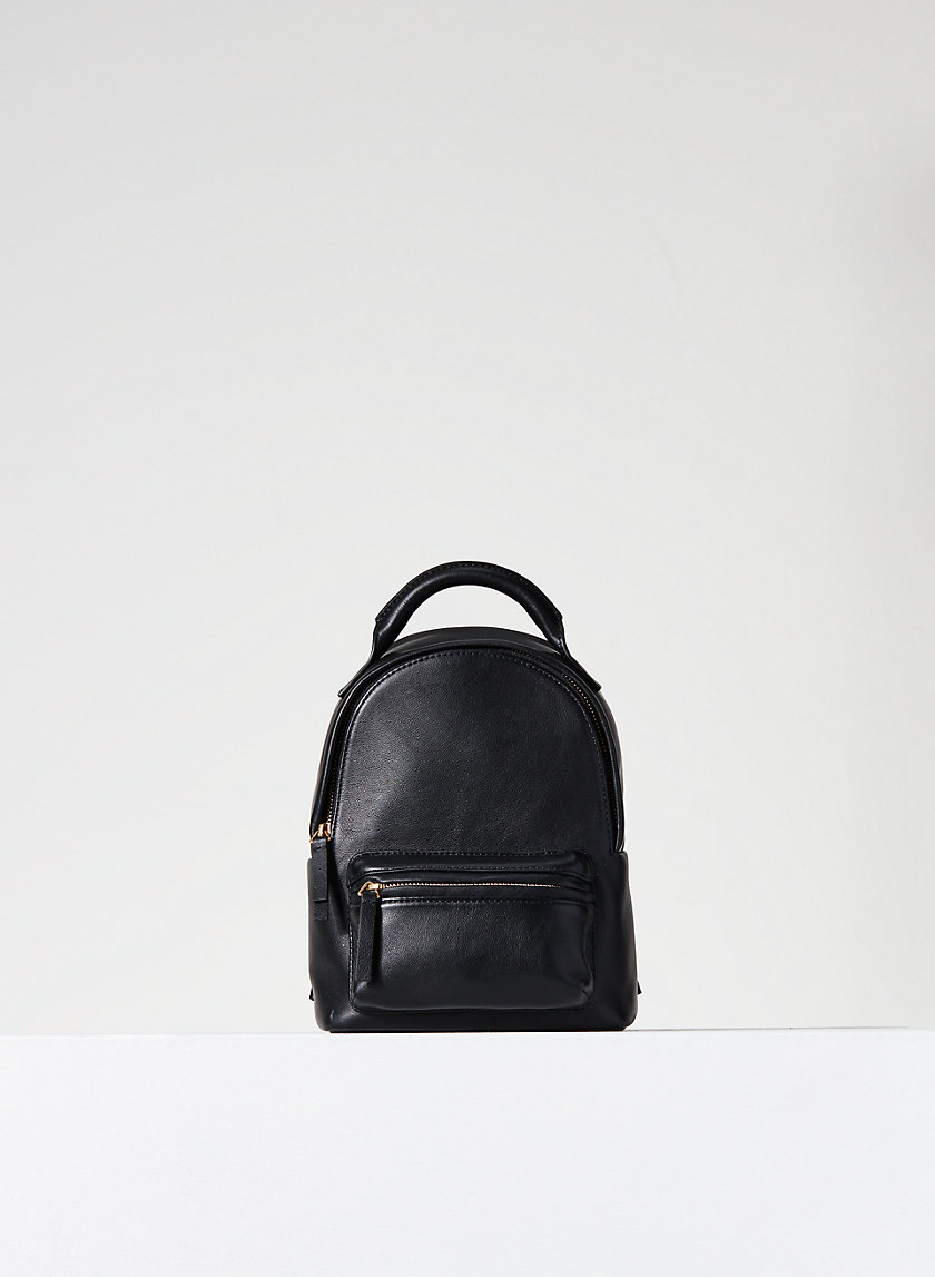 LEATHER MINI BACKPACK - Leather backpack