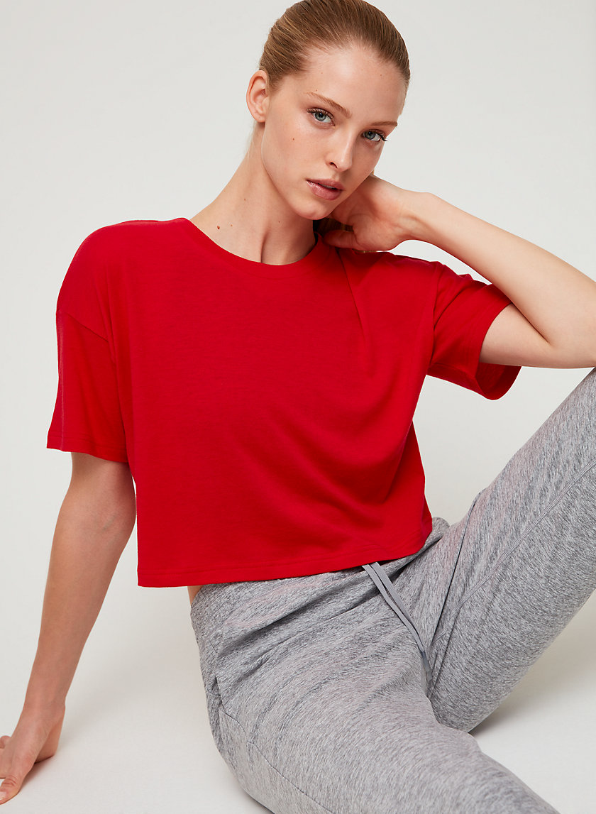 REPEAT T-SHIRT - Cropped short-sleeve t-shirt