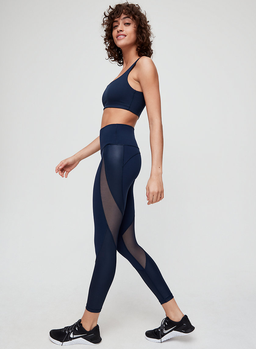 RELAY SQUAD PANT - High-waisted, mesh workout legging
