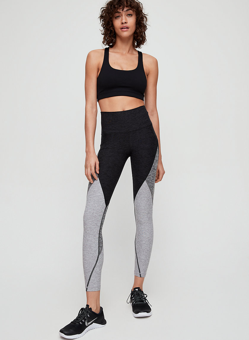 RELAY PANEL PANT - High-waisted, colorblock workout legging