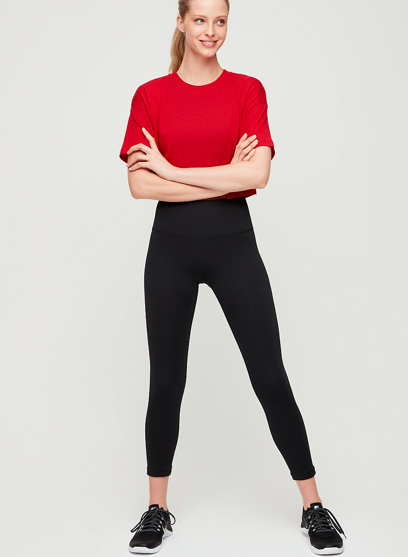RELAY PANT CROP - High-waisted workout leggings