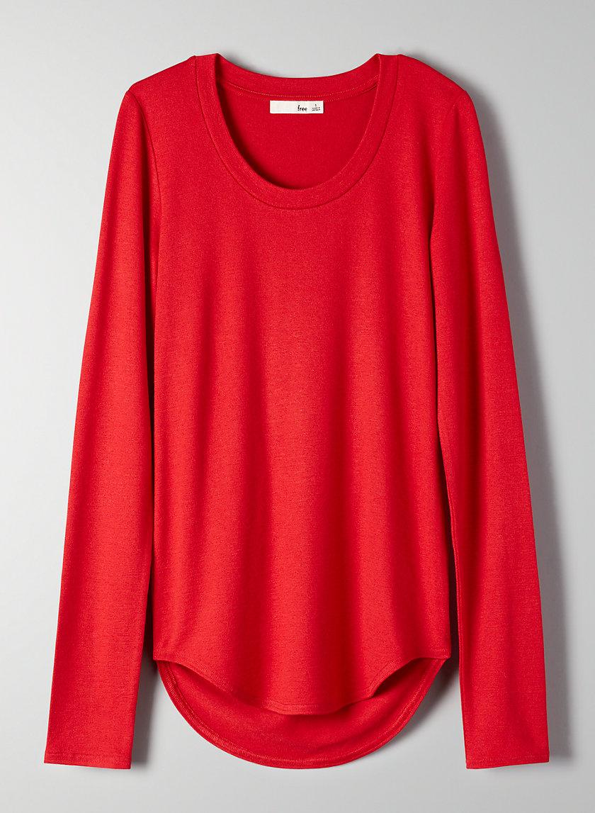 DIAPASON T-SHIRT - Long-sleeve, scoop neck t-shirt